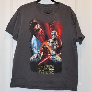 Star Wars The Force Awakens Mens T-Shirt Gray XL